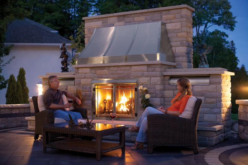 Napoleon Outdoor Gas Fireplace Riverside 42 Outdoor