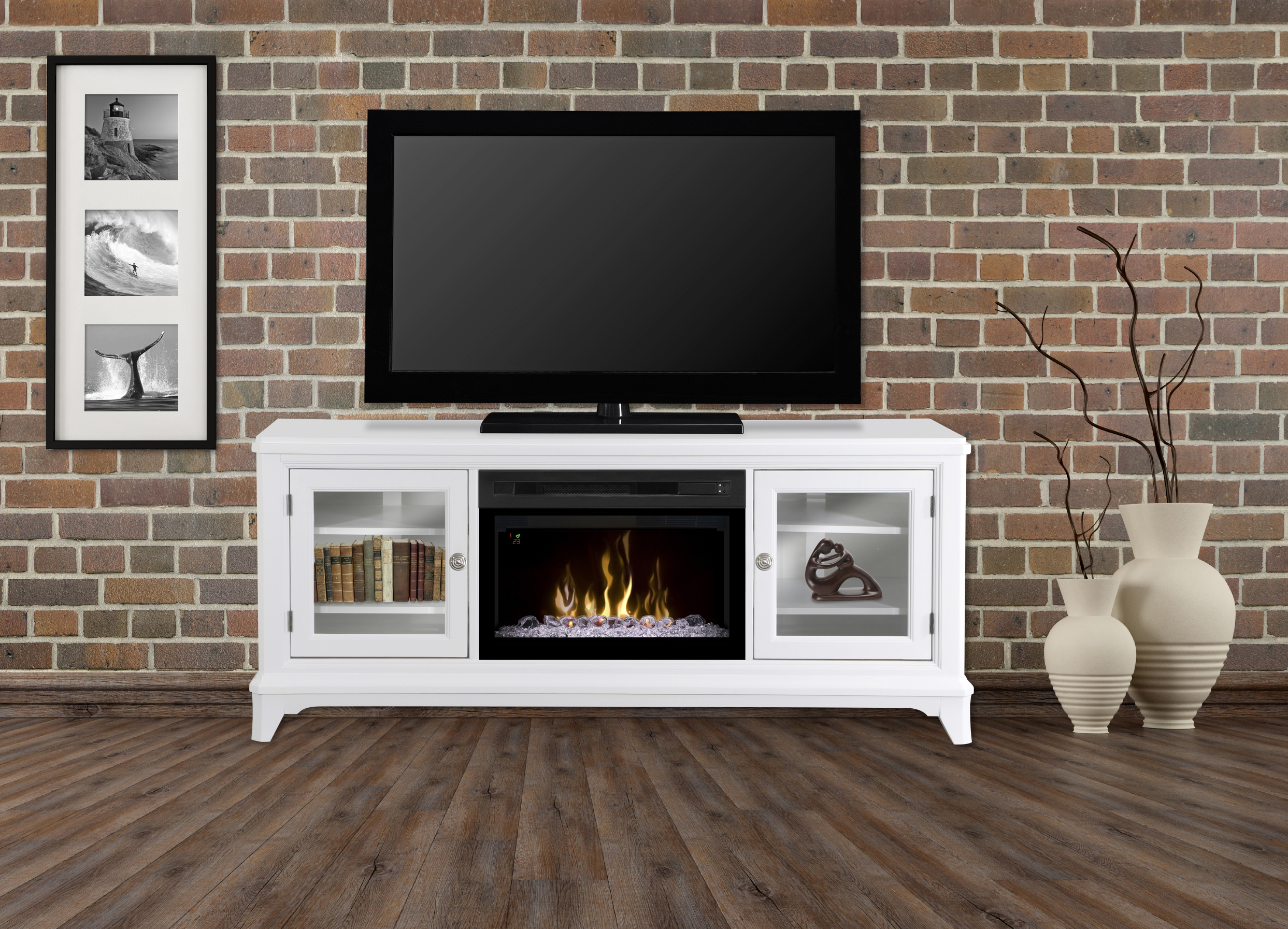 Dimplex Electric Firebox – Media Console, Winterstein