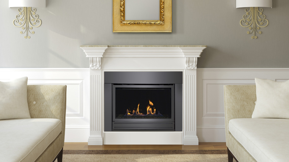 Sierra Flame Gas Fireplace – Bradley 36