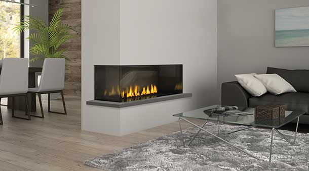 The Fireplace Club is providing Regency Gas-fireplace-two sided-Regency Chicago Corner City Series 40 in Toronto