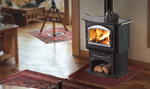 clean wood burning fireplace