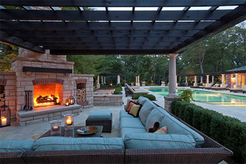 cozy outdoor fireplaces
