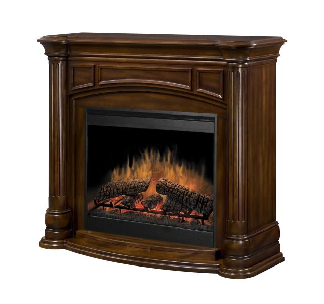 fireplace fireplaces package walnut dimplex cabinet large thompson electric burnished mantel packages