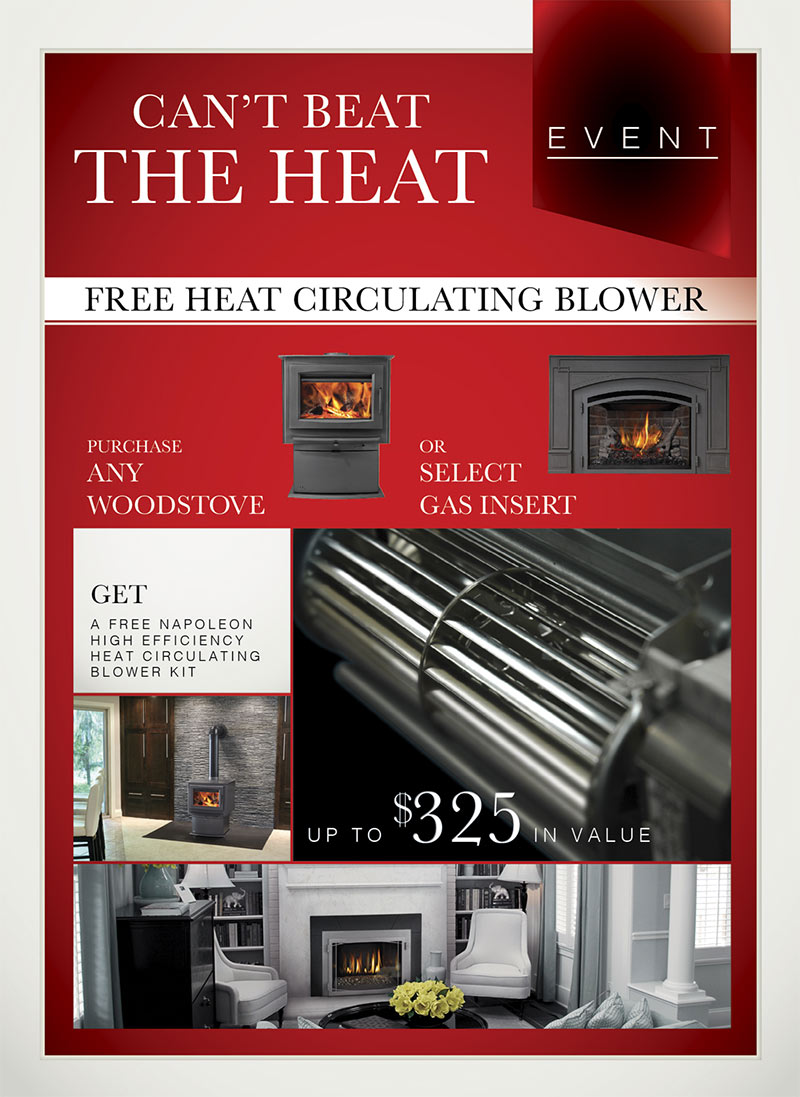 free napoleon efficiency heat circulation blower kit promotion 2017