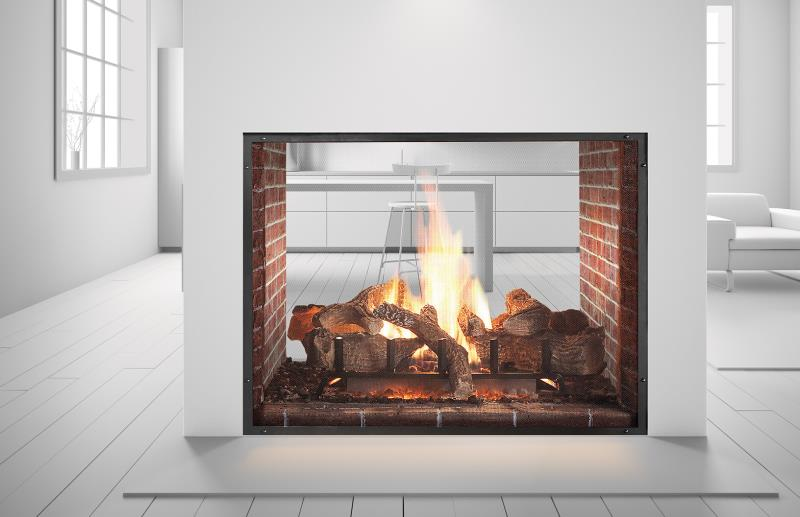Heat Amp Glo Gas Firepalce Escape See Through Gas