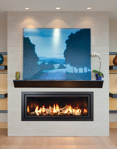 Mendota fullview modern linear gas fireplace the for Modern fireplace inserts gas