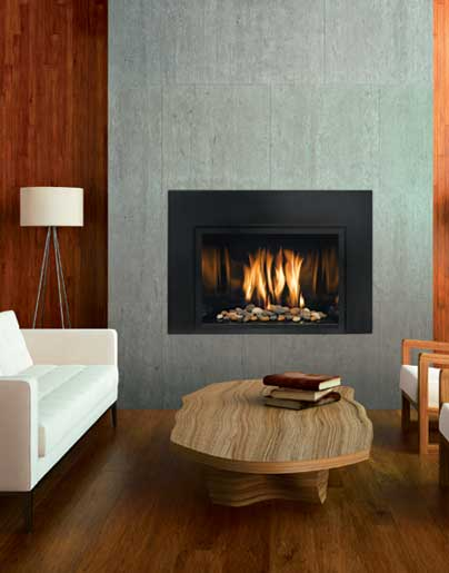 Mendota fullview modern gas insert the fireplace club for Contemporary fireplace insert