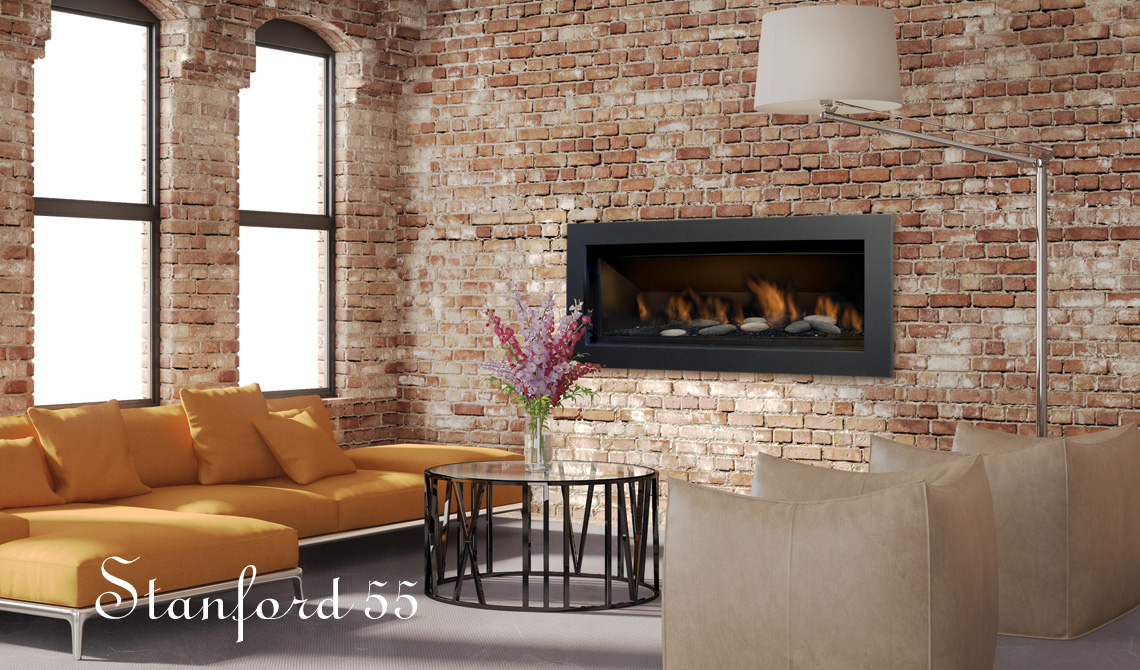 Sierra Flame Gas Fireplace – The Standford 55L