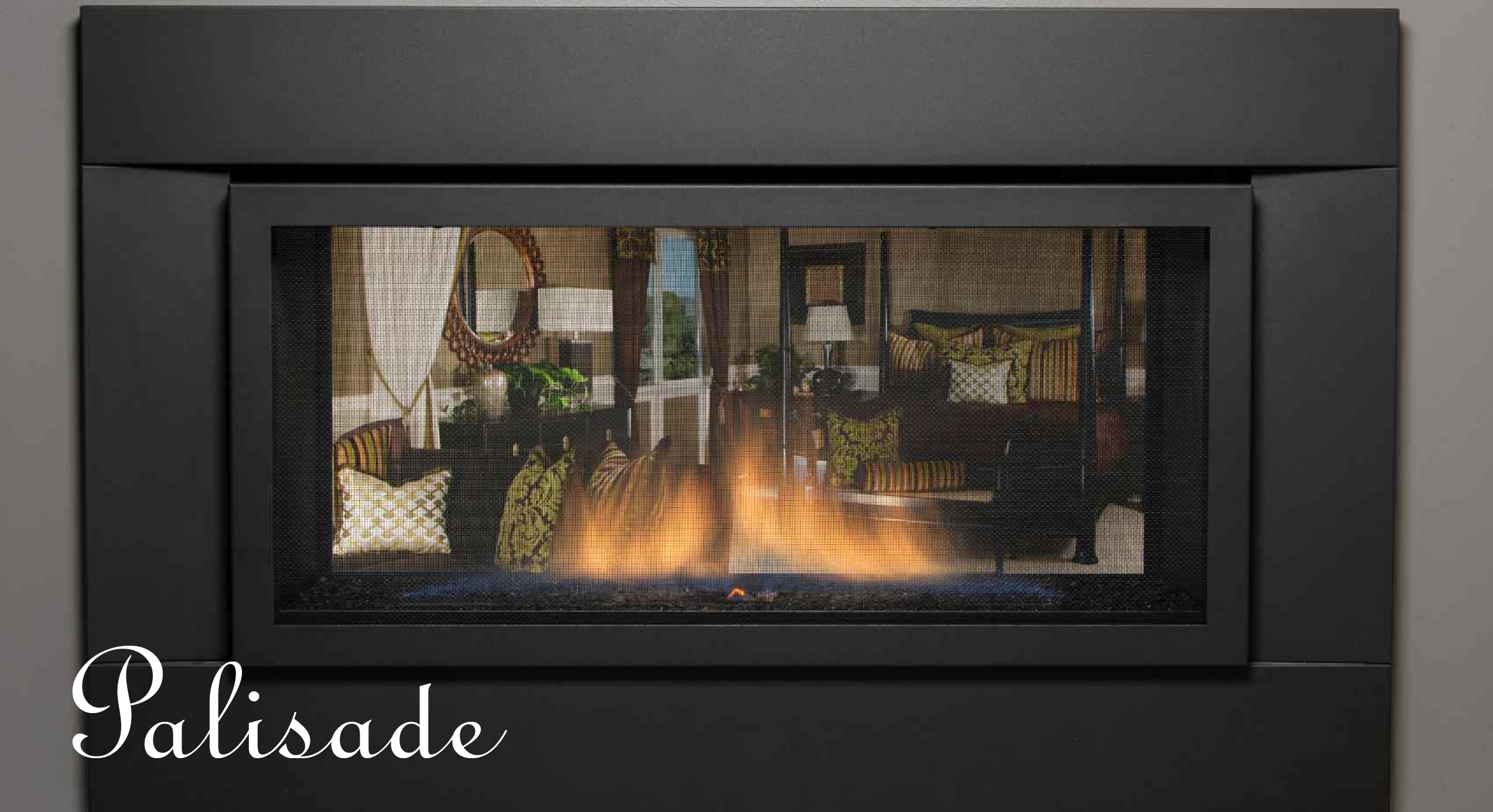 sierra flame gas fireplace the palisade 36st see thru the