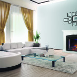 """Napoleon Electric Fireplace and Mantel Package – Ascent """"33 Electric Firebox, The Taylor"""