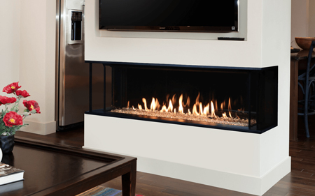 Valor Gas Fireplace ,  LX2- 3 sided Linear Fireplace