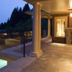 Pool Deck House Dusk