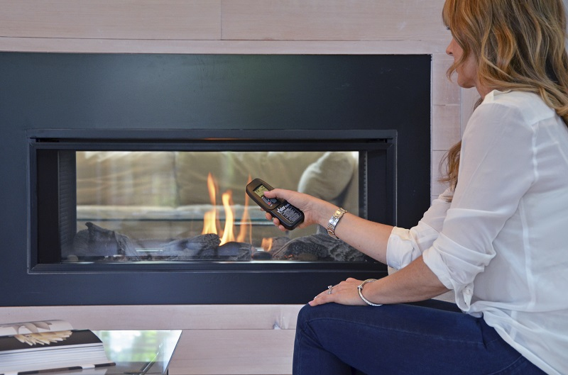 Valor Gas Fireplace L1 Linear 2 Sided Series The Fireplace Club