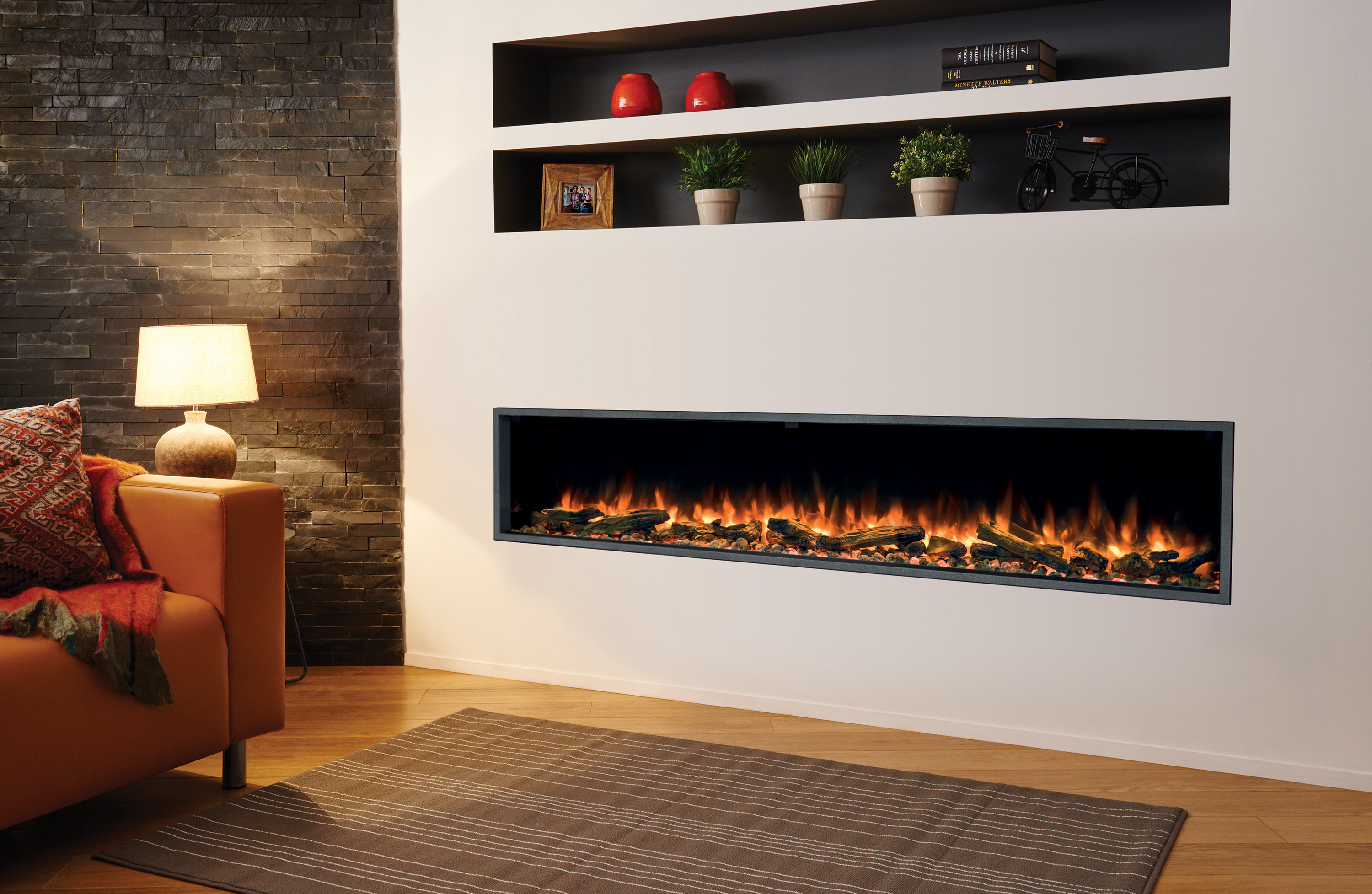Regency Linear Electric Fireplace- Skope 195E- 77″inches