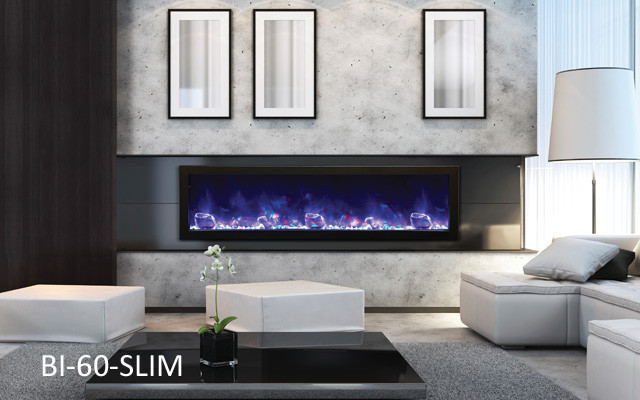 Amantii Electric Fireplace Panorama Series Bi 60 Slim