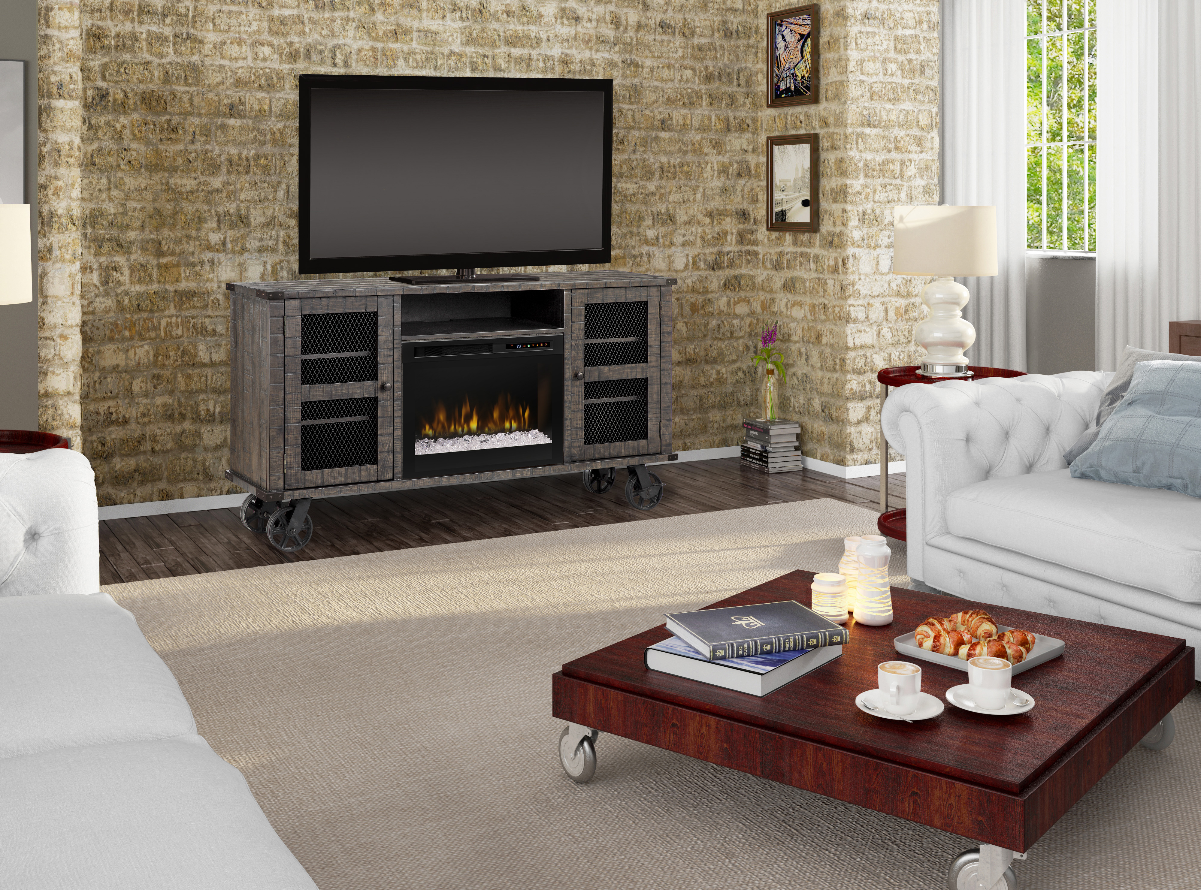 Dimplex Electric Fireplace – Duncan Media Console