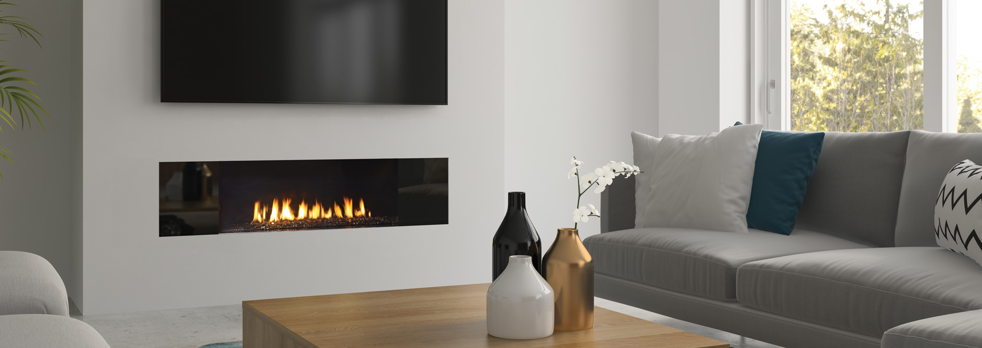 Regency Gas Fireplace – City Series  – New York View 40 and 72