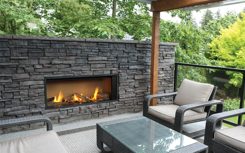 Valor Outdoor Gas Fireplace –  L1 Outdoor Linear Series Gas Fireplace