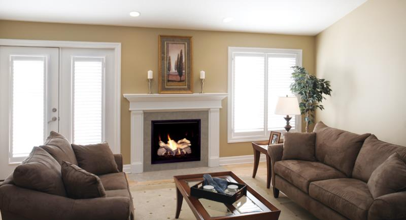 Majestic Gas Fireplace – Solitaire Direct Vent Gas Fireplace