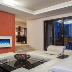 Travertine house – spacious living room