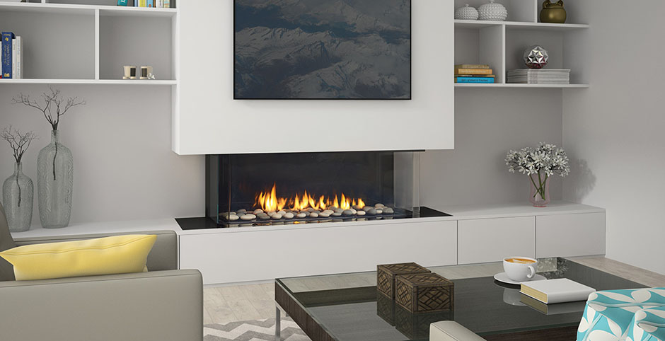 Regency Gas Fireplace City Series- San Francisco Bay three sided Gas Fireplace- CB40E