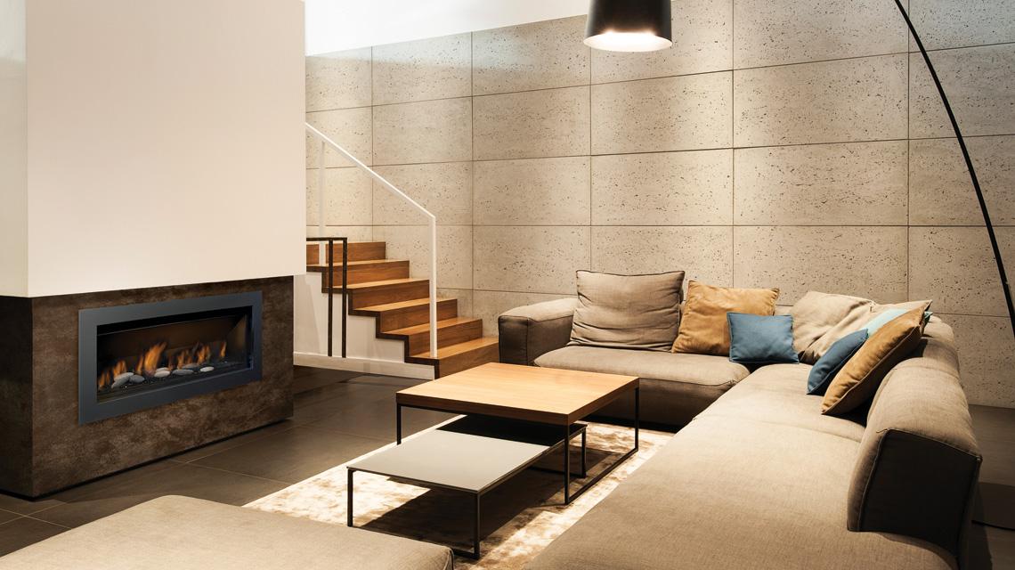 Sierra Flame Gas Fireplace – The Bennett 45