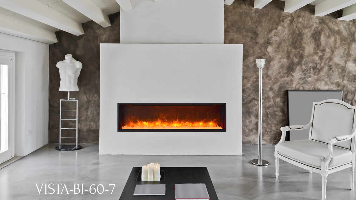 Sierra Flame Electric Fireplace Vista Slim Series Bi 50