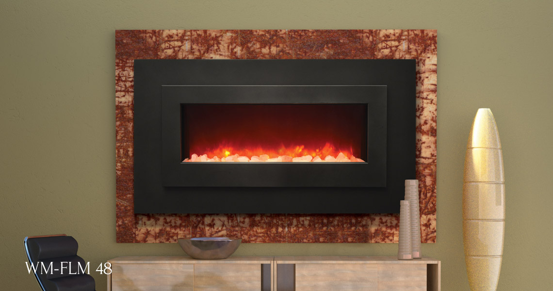Sierra Flame Electric Fireplace ,  Linear Series WM-FML-40, WM-FML-48, WM-FML-62, WM-FML-85