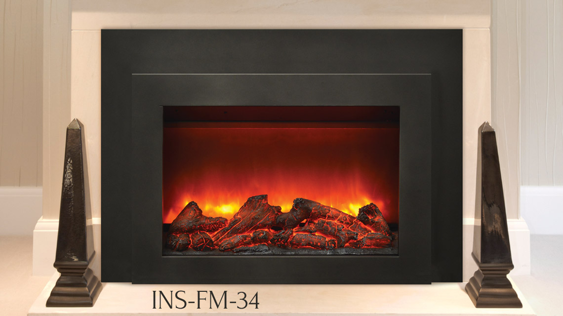 Sierra Flame Electric Fireplace –  INS-FM-26, INS-FM-30, INS-FM-34 Flushmount Electric Insert