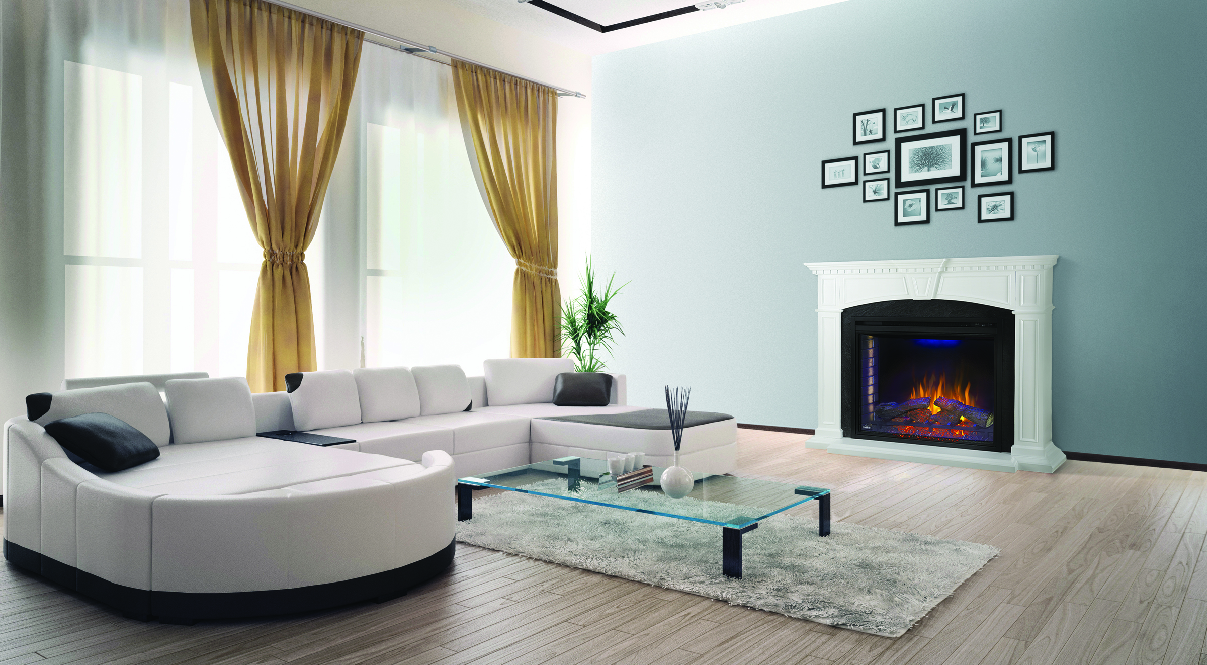 "Napoleon Electric Fireplace and Mantel Package – Ascent ""33 Electric Firebox, The Taylor"