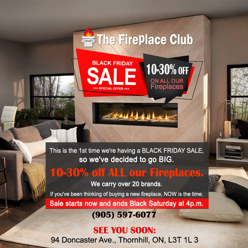The Fireplace Club Black Friday Promotion 2019