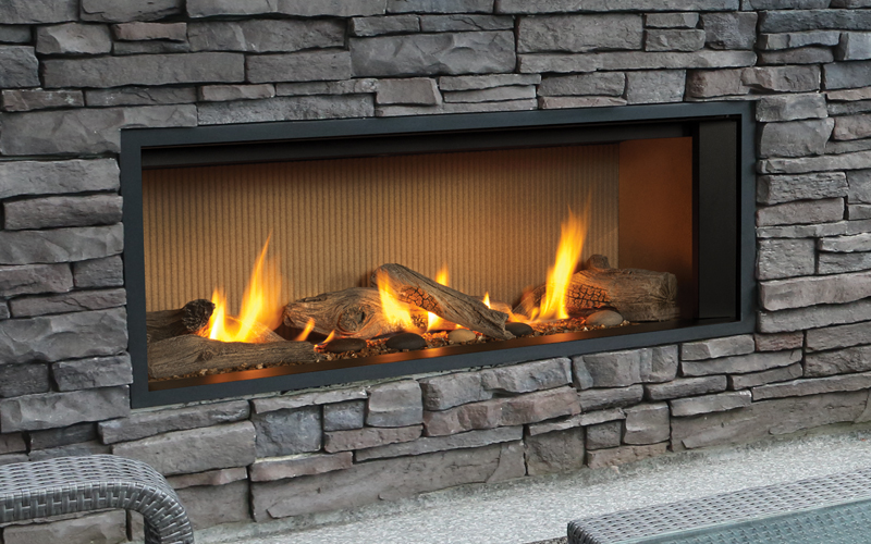 Valor Outdoor Gas Fireplace L1 Outdoor Linear Series Gas