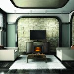 Napoleon-The Whitney- Media Console and Electric Fireplace-NEFP24-0516GRW